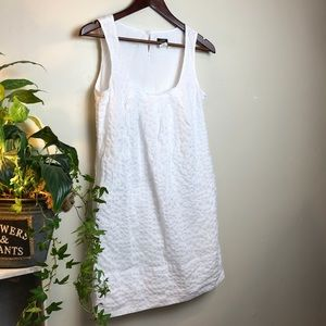 J. CREW cute sleeveles white dress New Without tag